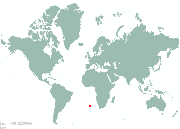 Mafeteng in world map